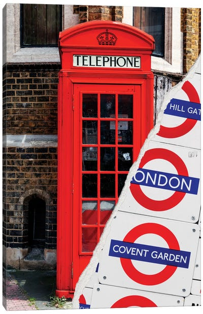 London Booth Canvas Art Print