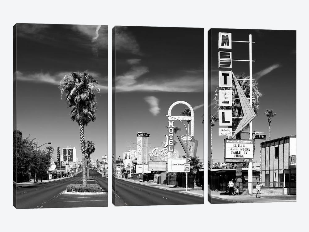 Black Nevada Series - Vintage Las Vegas by Philippe Hugonnard 3-piece Canvas Art