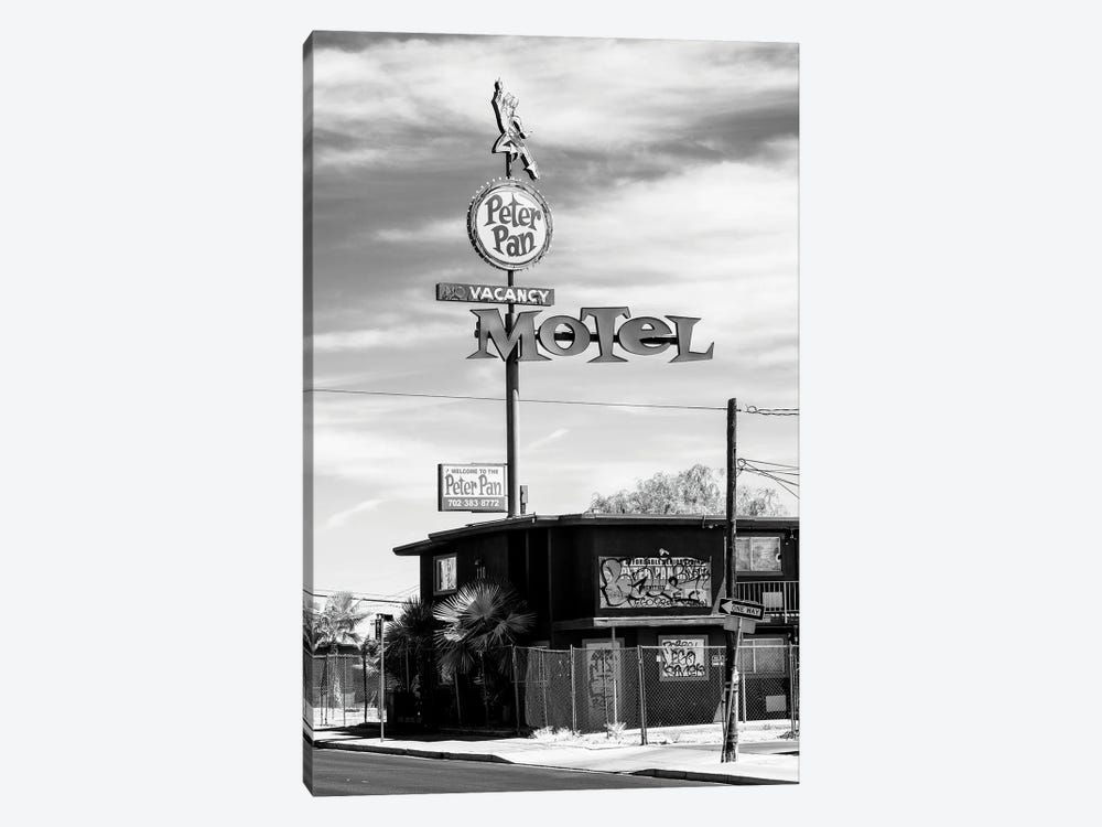Black Nevada Series - Peter Pan Motel Old Vegas by Philippe Hugonnard 1-piece Canvas Print
