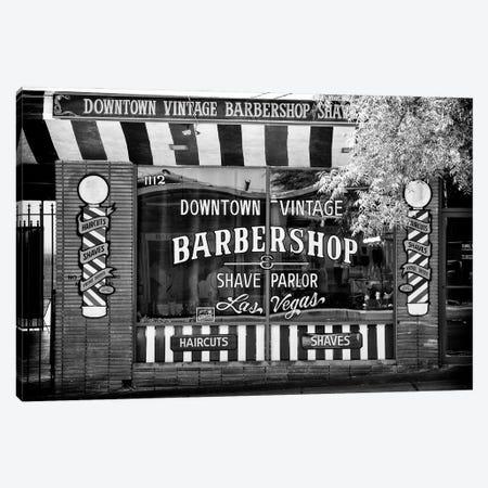 Black Nevada Series - Barbershop Las Vegas Canvas Print #PHD1910} by Philippe Hugonnard Canvas Print