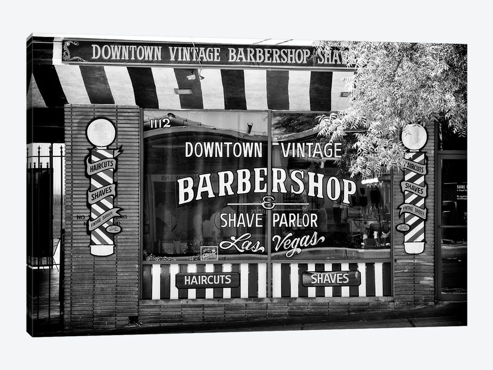 Black Nevada Series - Barbershop Las Vegas by Philippe Hugonnard 1-piece Canvas Print