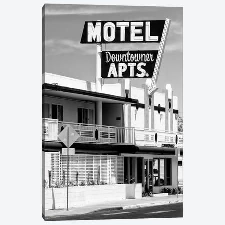Black Nevada Series - Vegas Motel Downtowner Canvas Print #PHD1911} by Philippe Hugonnard Art Print