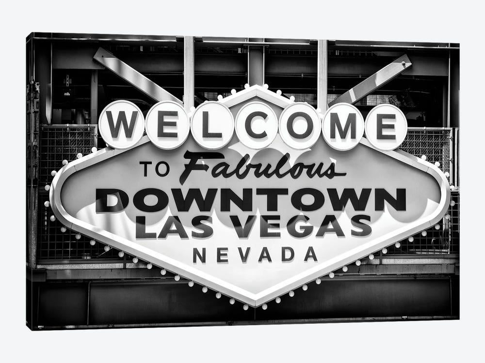 Black Nevada Series - Welcome Vegas by Philippe Hugonnard 1-piece Canvas Print