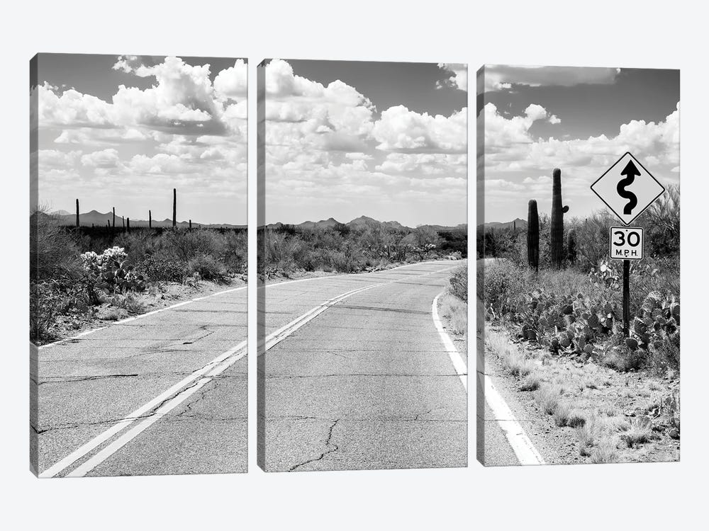 Black Nevada Series - Road Trip by Philippe Hugonnard 3-piece Canvas Print