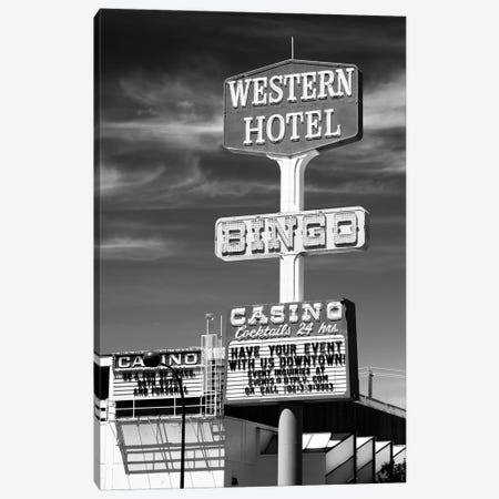 Black Nevada Series - Vegas Western Hotel Canvas Print #PHD1917} by Philippe Hugonnard Canvas Artwork
