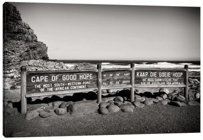 Awesome South Africa Series: Cape of Good Hope Sign Canvas Print #PHD191