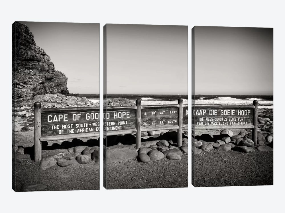 Awesome South Africa Series: Cape of Good Hope Sign by Philippe Hugonnard 3-piece Art Print