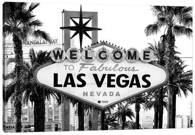 Black Nevada Series - Welcome To Fabulous Las Vegas Canvas Art Print