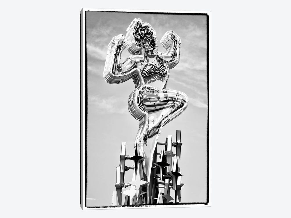 Black Nevada Series - Showgirl Fremont Street by Philippe Hugonnard 1-piece Canvas Art Print