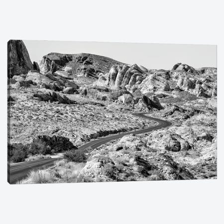 Black Nevada Series - Desert Road Canvas Print #PHD1928} by Philippe Hugonnard Canvas Artwork