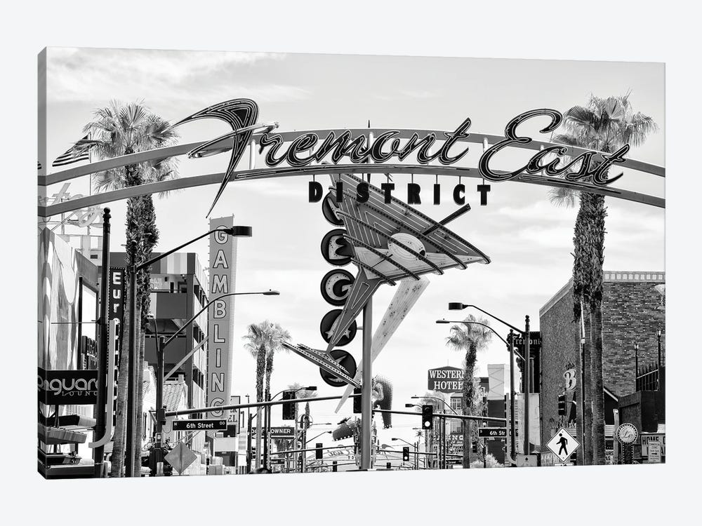 Black Nevada Series - Fremont East District by Philippe Hugonnard 1-piece Canvas Print