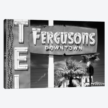 Black Nevada Series - Fergusons Downtown Motel Canvas Print #PHD1935} by Philippe Hugonnard Canvas Art