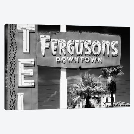 Black Nevada Series - Fergusons Downtown Motel Canvas Print #PHD1935} by Philippe Hugonnard Canvas Art