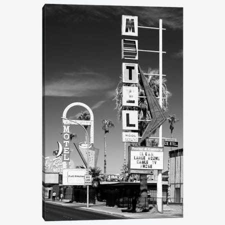 Black Nevada Series - Las Vegas Motels Canvas Print #PHD1948} by Philippe Hugonnard Canvas Wall Art