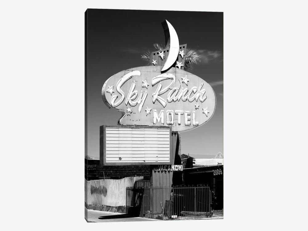 Black Nevada Series - Vegas Sky Ranch Motel by Philippe Hugonnard 1-piece Canvas Print