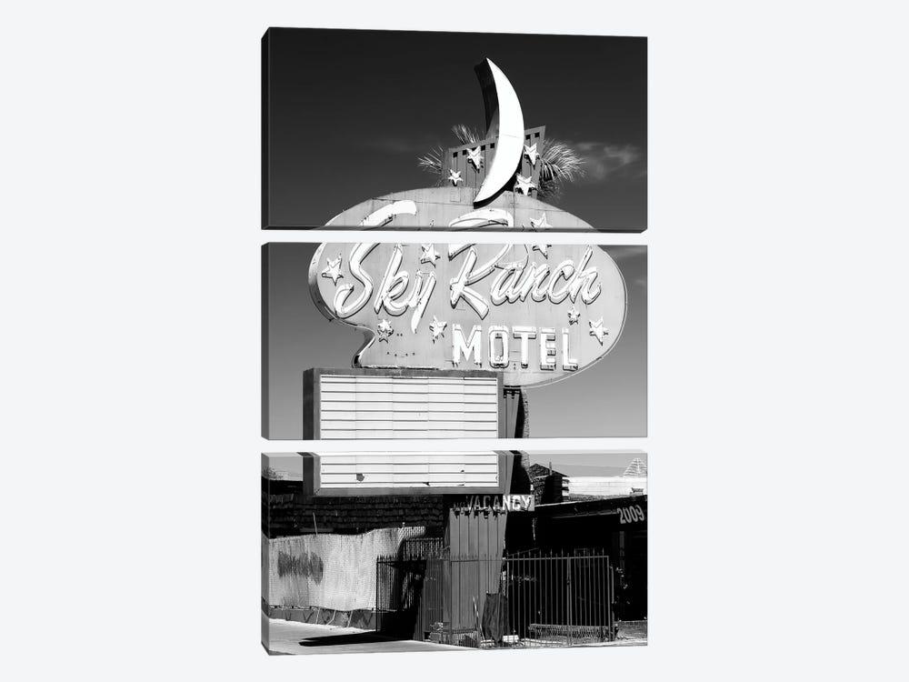 Black Nevada Series - Vegas Sky Ranch Motel by Philippe Hugonnard 3-piece Art Print