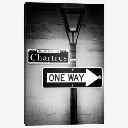 Black NOLA Series - Rue de Chartres Canvas Print #PHD1954} by Philippe Hugonnard Canvas Art