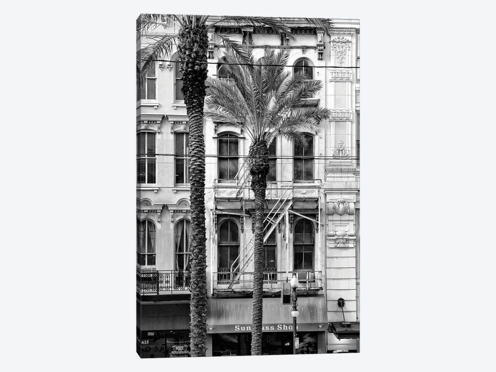 Black NOLA Series - Palm Tree Facade by Philippe Hugonnard 1-piece Canvas Art Print