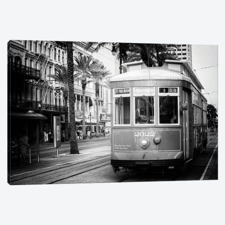 Black NOLA Series - Streetcar New Orleans Canvas Print #PHD1958} by Philippe Hugonnard Canvas Print