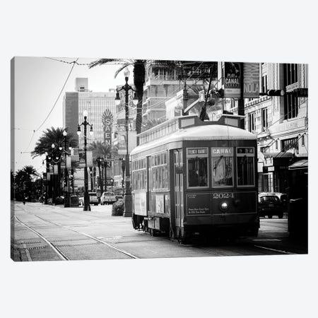 Black NOLA Series - New Orleans Streetcar Canvas Print #PHD1960} by Philippe Hugonnard Canvas Artwork