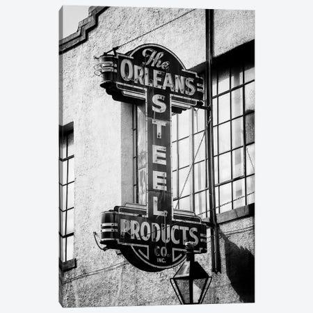 Black NOLA Series - The Orleans Steel Canvas Print #PHD1962} by Philippe Hugonnard Canvas Artwork