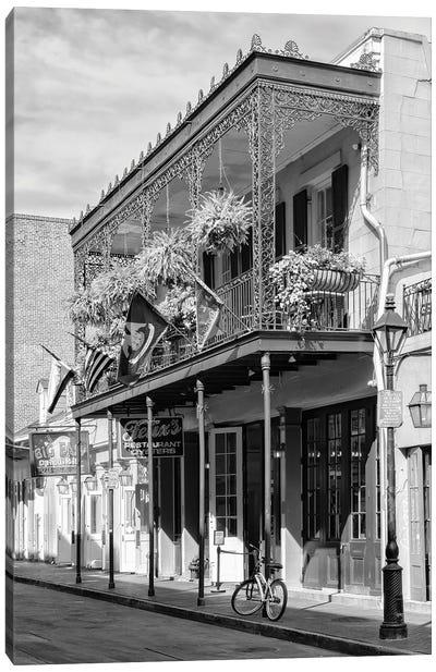 Black NOLA Series - Restaurant New Orleans Canvas Art Print