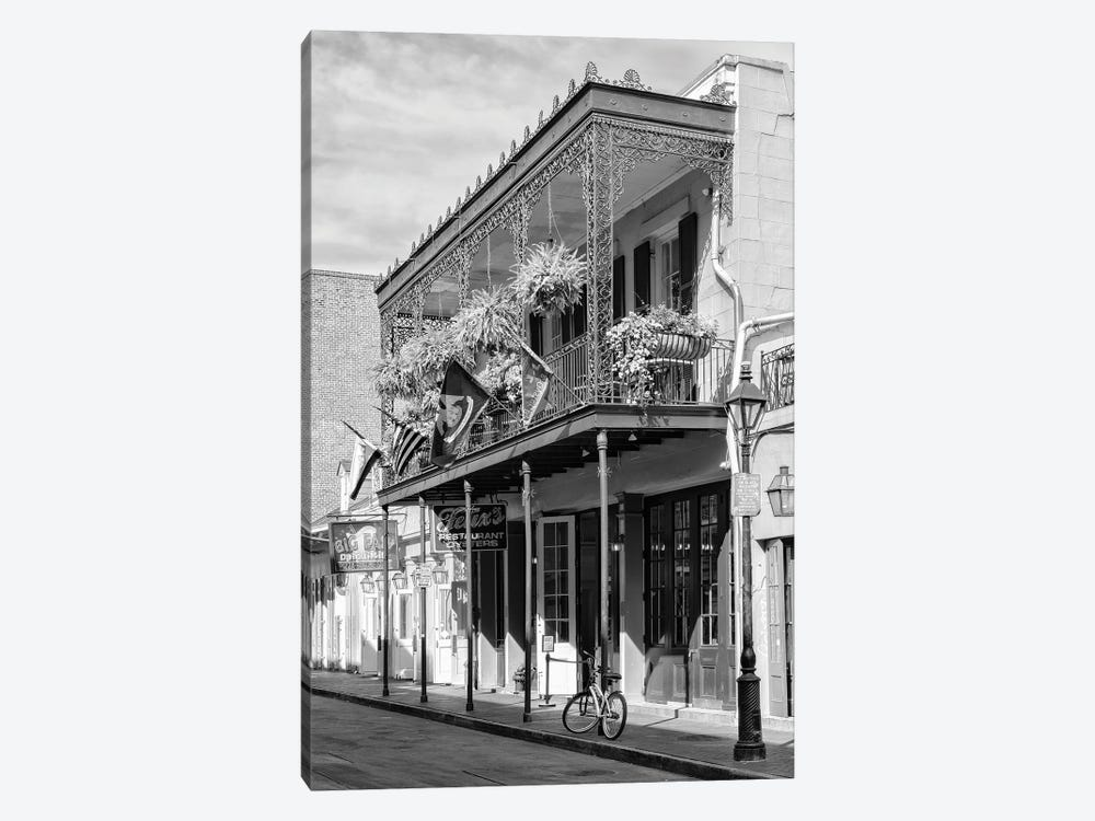 Black NOLA Series - Restaurant New Orleans by Philippe Hugonnard 1-piece Canvas Art