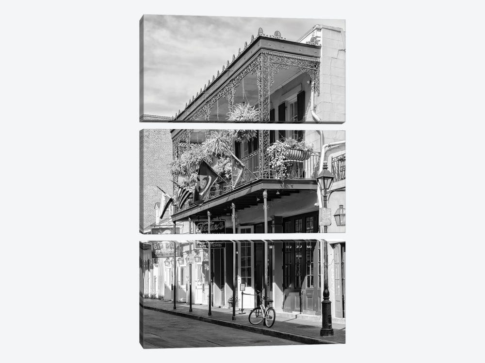 Black NOLA Series - Restaurant New Orleans by Philippe Hugonnard 3-piece Canvas Art