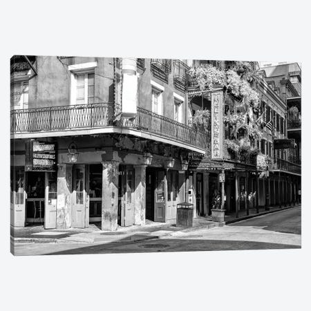 Black NOLA Series - Bar New Orleans Canvas Print #PHD1969} by Philippe Hugonnard Canvas Art
