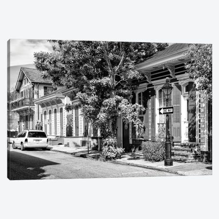 Black NOLA Series - New Orleans Street Canvas Print #PHD1971} by Philippe Hugonnard Canvas Print
