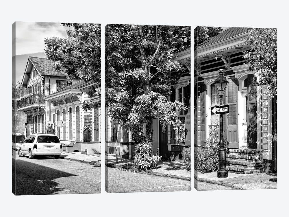 Black NOLA Series - New Orleans Street by Philippe Hugonnard 3-piece Canvas Art