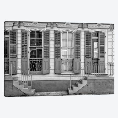 Black NOLA Series - Facade French Quarter Canvas Print #PHD1972} by Philippe Hugonnard Canvas Print