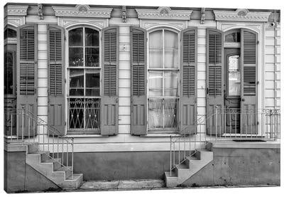 Black NOLA Series - Facade French Quarter Canvas Art Print