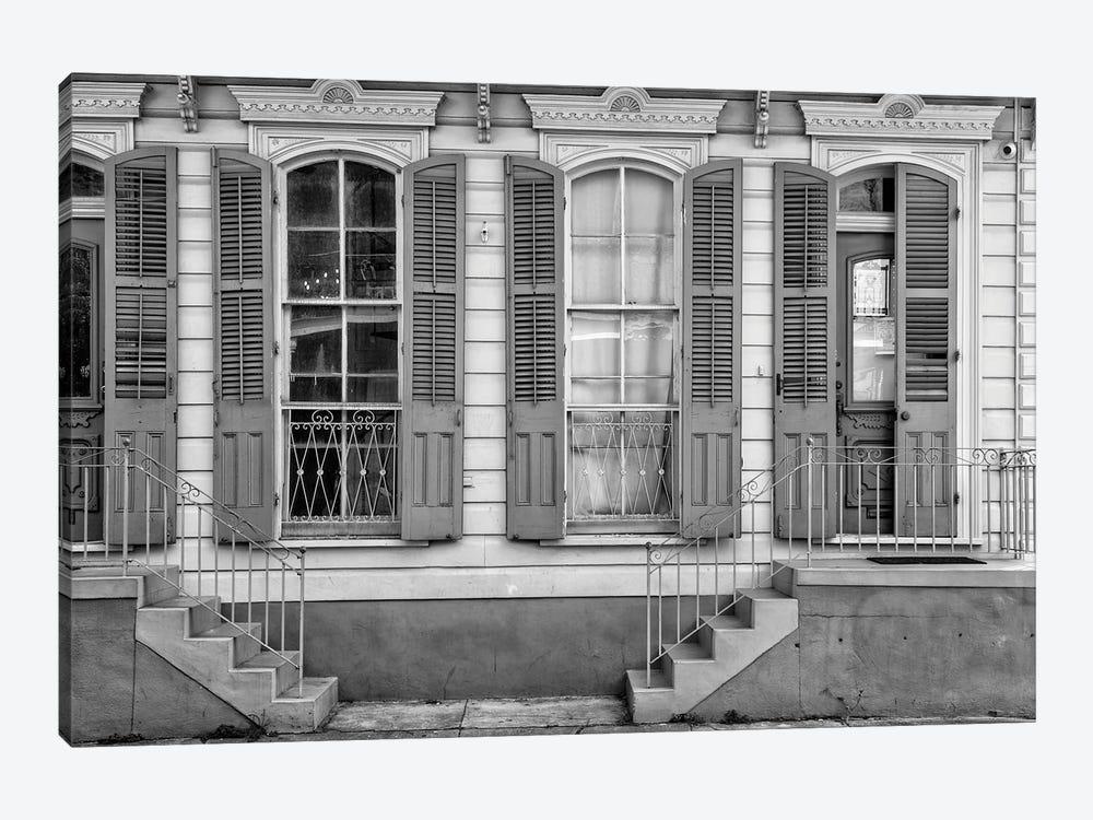 Black NOLA Series - Facade French Quarter by Philippe Hugonnard 1-piece Art Print
