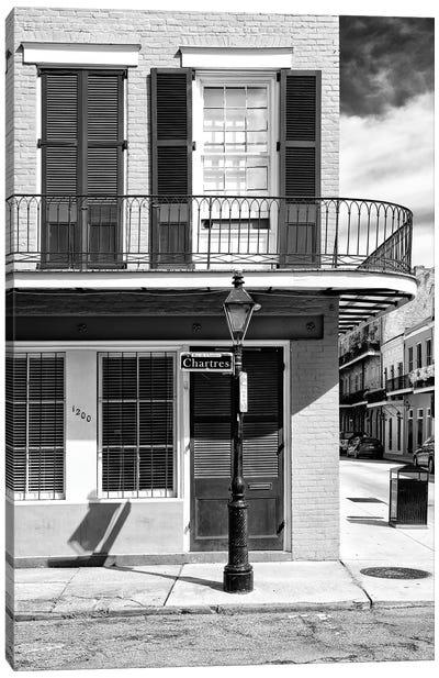 Black NOLA Series - Rue de Chartres New Orleans Canvas Art Print
