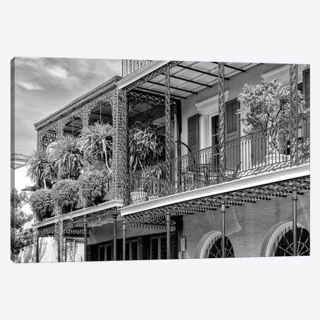 Black NOLA Series - The Most Famous Balcony Canvas Print #PHD1977} by Philippe Hugonnard Canvas Wall Art