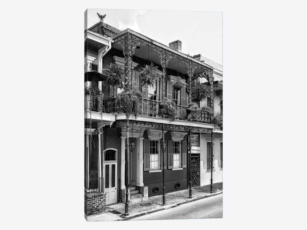 Black NOLA Series - French Quarter Balcony by Philippe Hugonnard 1-piece Canvas Print