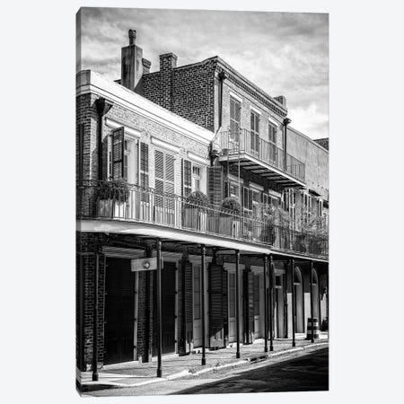 Black NOLA Series - New Orleans Balcony Canvas Print #PHD1979} by Philippe Hugonnard Canvas Print