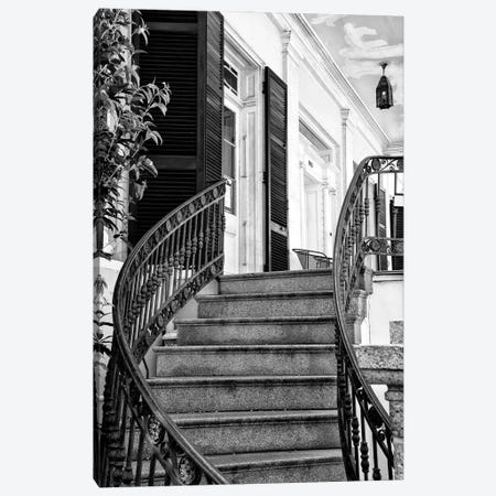 Black NOLA Series - Colonial Staircase Canvas Print #PHD1980} by Philippe Hugonnard Canvas Wall Art
