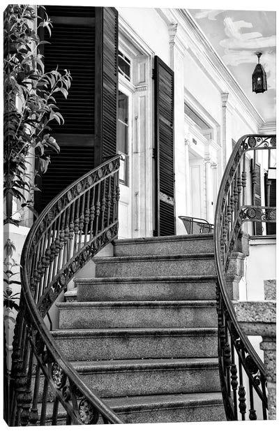 Black NOLA Series - Colonial Staircase Canvas Art Print