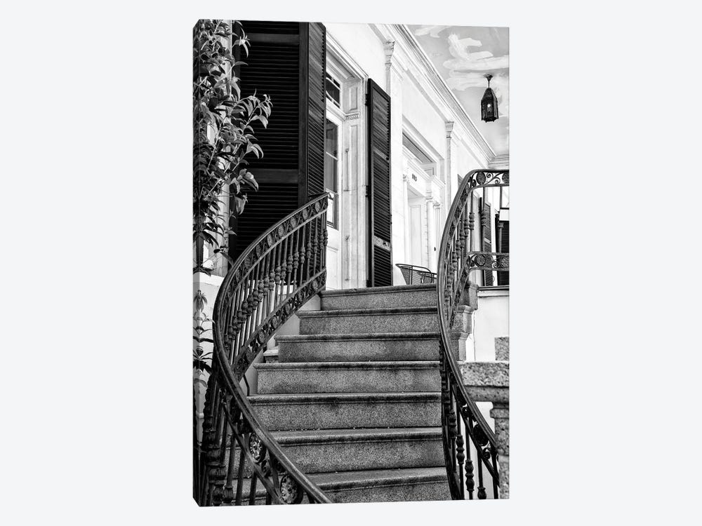 Black NOLA Series - Colonial Staircase by Philippe Hugonnard 1-piece Canvas Wall Art