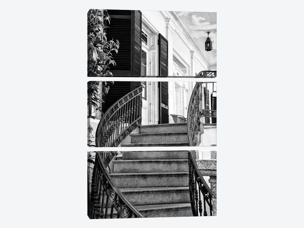 Black NOLA Series - Colonial Staircase by Philippe Hugonnard 3-piece Canvas Art