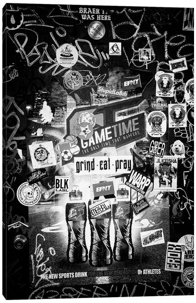Black NOLA Series - Stickers Wall Art Canvas Art Print