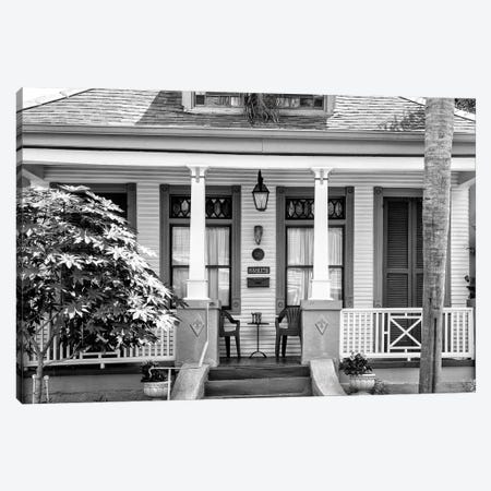 Black NOLA Series - Historic Home Canvas Print #PHD1985} by Philippe Hugonnard Art Print
