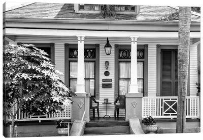 Black NOLA Series - Historic Home Canvas Art Print
