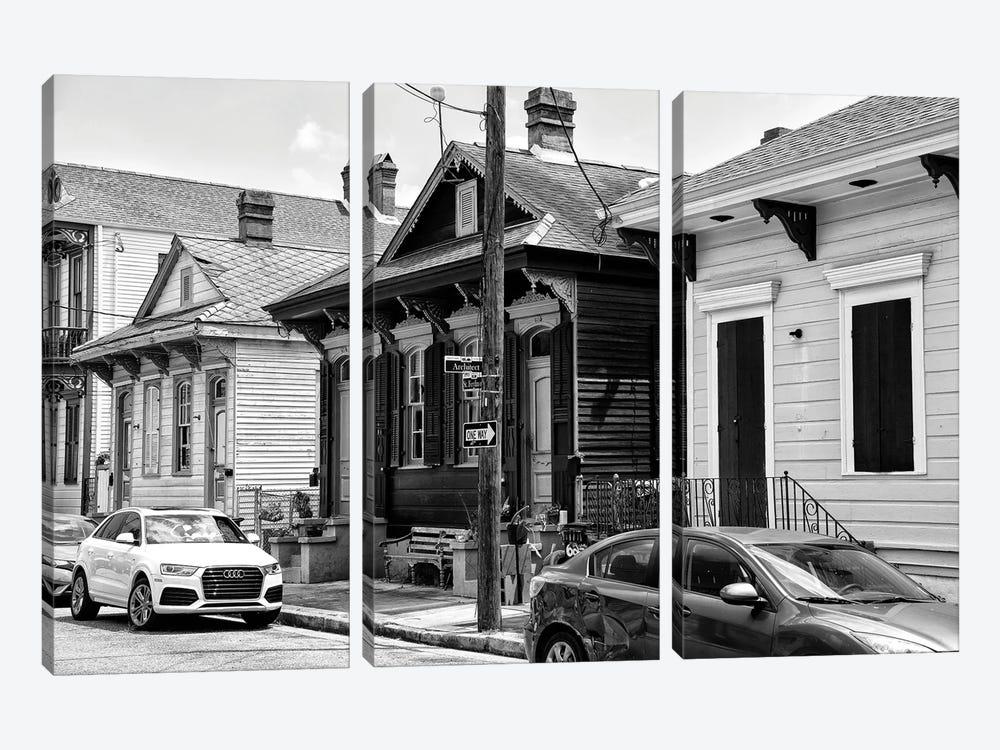 Black NOLA Series - Historic District by Philippe Hugonnard 3-piece Canvas Art Print