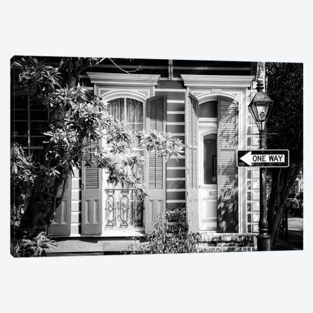 Black NOLA Series - Historic District New Orleans Canvas Print #PHD1989} by Philippe Hugonnard Canvas Wall Art