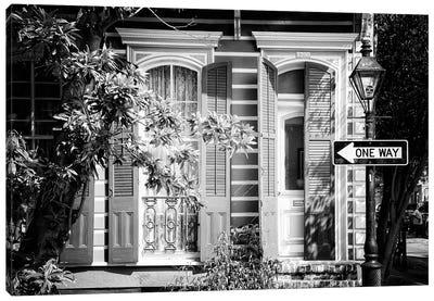 Black NOLA Series - Historic District New Orleans Canvas Art Print