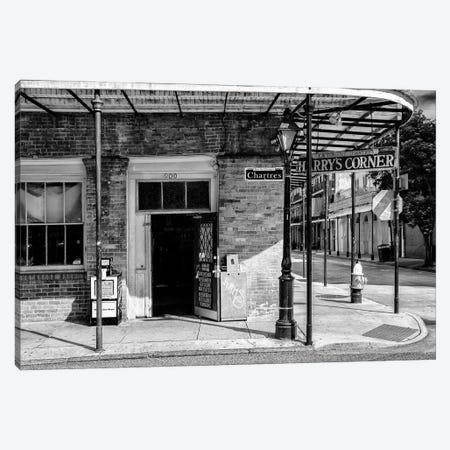 Black NOLA Series - Harry's Corner Canvas Print #PHD1992} by Philippe Hugonnard Canvas Print