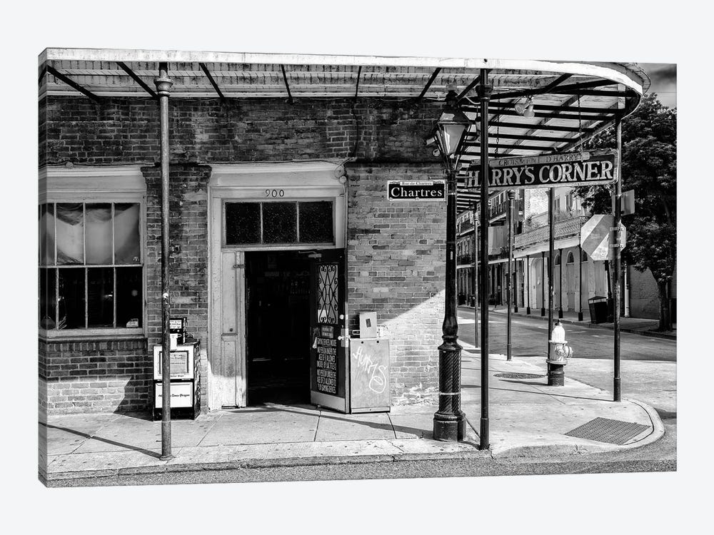 Black NOLA Series - Harry's Corner by Philippe Hugonnard 1-piece Art Print